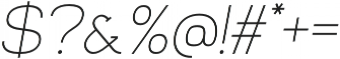 Venice Serif Light Italic otf (300) Font OTHER CHARS