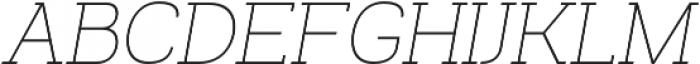 Venice Serif Light Italic otf (300) Font UPPERCASE