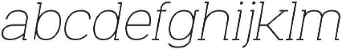 Venice Serif Light Italic otf (300) Font LOWERCASE