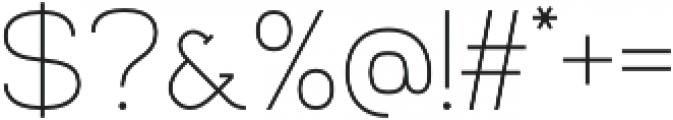 Venice Serif Light otf (300) Font OTHER CHARS