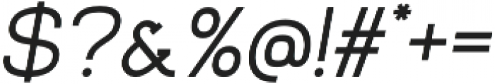 Venice Serif Medium Italic otf (500) Font OTHER CHARS