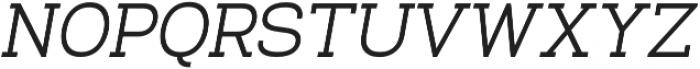 Venice Serif Medium Italic otf (500) Font UPPERCASE