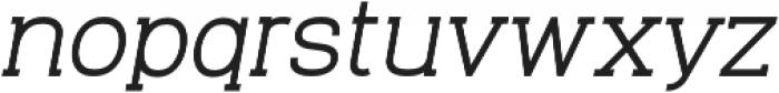 Venice Serif Medium Italic otf (500) Font LOWERCASE