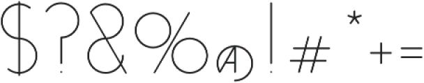 Venzel Semilight otf (300) Font OTHER CHARS