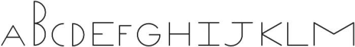 Venzel Semilight otf (300) Font UPPERCASE