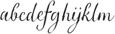 Verao Jean Regular otf (400) Font LOWERCASE