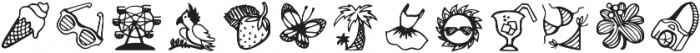 Verao Ornaments Regular otf (400) Font LOWERCASE