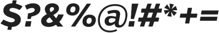 Verb Extrabold Italic otf (700) Font OTHER CHARS