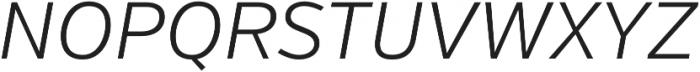 Verb Light Italic otf (300) Font UPPERCASE