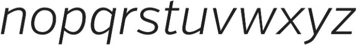 Verb Light Italic otf (300) Font LOWERCASE
