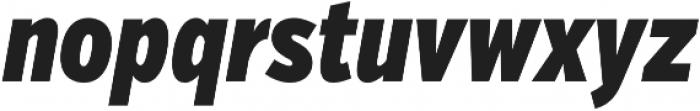 VerbComp Black Italic otf (900) Font LOWERCASE