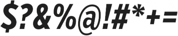 VerbComp Bold Italic otf (700) Font OTHER CHARS