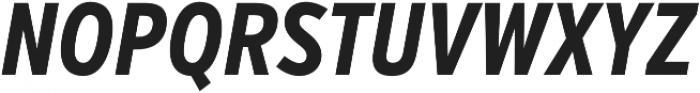 VerbComp Bold Italic otf (700) Font UPPERCASE