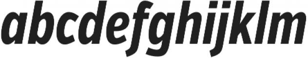 VerbComp Bold Italic otf (700) Font LOWERCASE