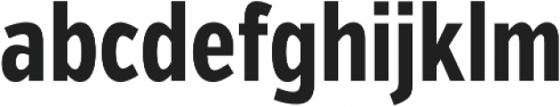 VerbComp Bold otf (700) Font LOWERCASE