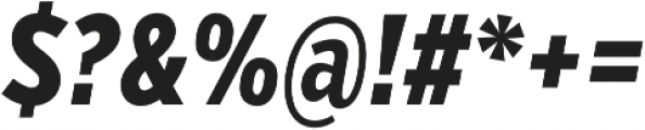VerbComp Extrabold Italic otf (700) Font OTHER CHARS