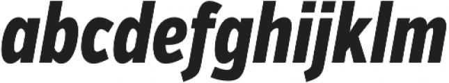 VerbComp Extrabold Italic otf (700) Font LOWERCASE