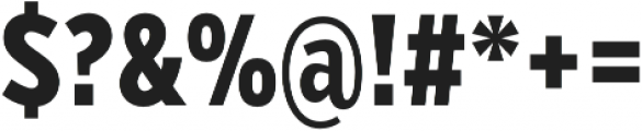 VerbComp Extrabold otf (700) Font OTHER CHARS