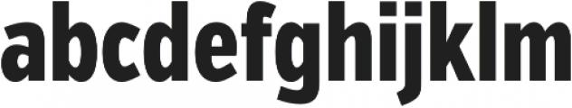 VerbComp Extrabold otf (700) Font LOWERCASE