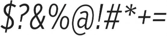 VerbComp Light Italic otf (300) Font OTHER CHARS