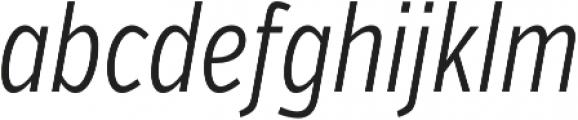VerbComp Light Italic otf (300) Font LOWERCASE