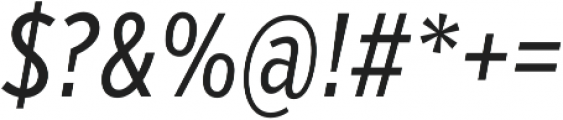 VerbComp Regular Italic otf (400) Font OTHER CHARS