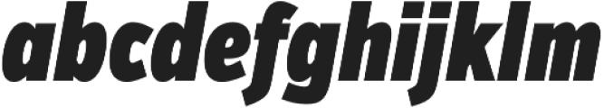 VerbComp Ultra Italic otf (900) Font LOWERCASE