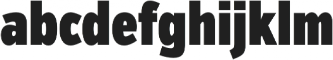 VerbComp Ultra otf (900) Font LOWERCASE