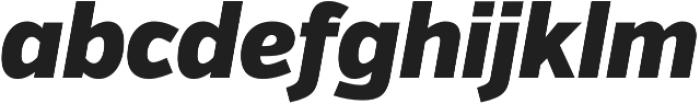 VerbCond Black Italic otf (900) Font LOWERCASE