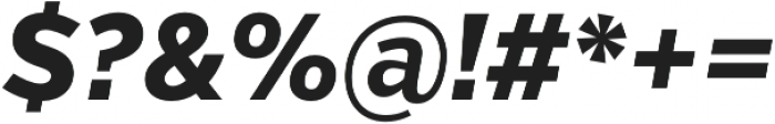 VerbCond Extrabold Italic otf (700) Font OTHER CHARS
