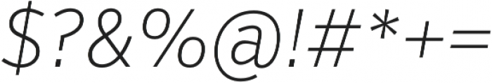 VerbCond Extralight Italic otf (200) Font OTHER CHARS