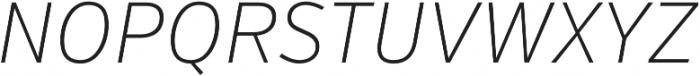 VerbCond Extralight Italic otf (200) Font UPPERCASE