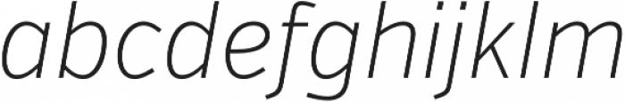VerbCond Extralight Italic otf (200) Font LOWERCASE