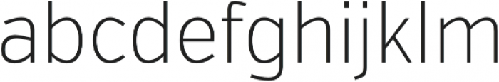 VerbCond Extralight otf (200) Font LOWERCASE