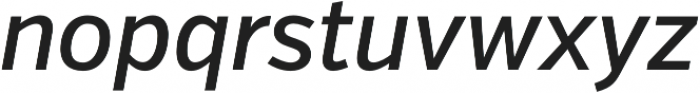 VerbCond Medium Italic otf (500) Font LOWERCASE