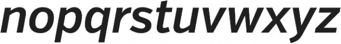 VerbCond Semibold Italic otf (600) Font LOWERCASE