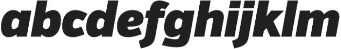 VerbCond Ultra Italic otf (900) Font LOWERCASE