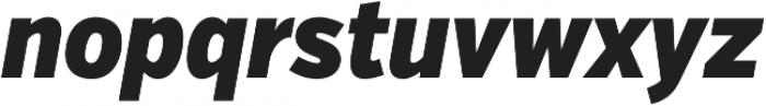 VerbExCond Black Italic otf (900) Font LOWERCASE