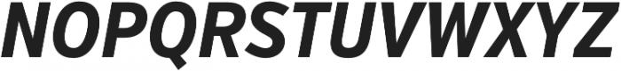 VerbExCond Bold Italic otf (700) Font UPPERCASE