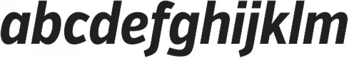 VerbExCond Bold Italic otf (700) Font LOWERCASE