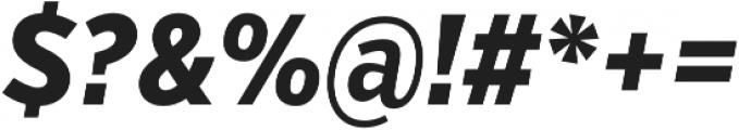 VerbExCond Extrabold Italic otf (700) Font OTHER CHARS