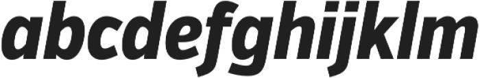 VerbExCond Extrabold Italic otf (700) Font LOWERCASE