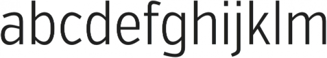 VerbExCond Light otf (300) Font LOWERCASE