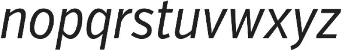 VerbExCond Regular Italic otf (400) Font LOWERCASE