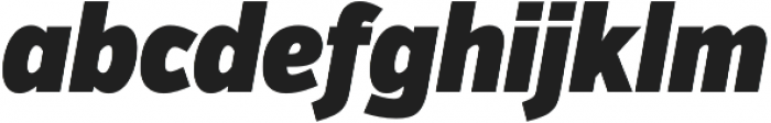 VerbExCond Ultra Italic otf (900) Font LOWERCASE
