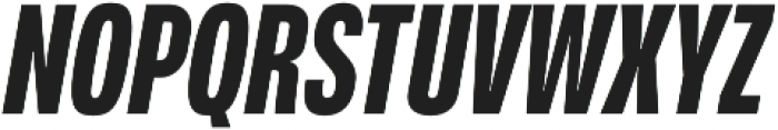 Verbatim Lite Condensed Bold Oblique otf (700) Font UPPERCASE