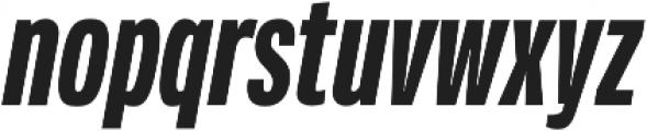 Verbatim Lite Condensed Bold Oblique otf (700) Font LOWERCASE