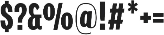 Verbatim Lite Condensed Bold otf (700) Font OTHER CHARS