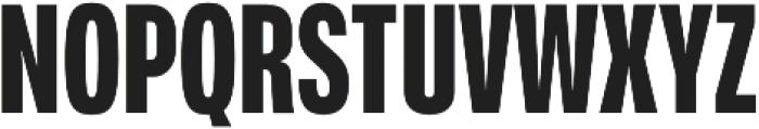 Verbatim Lite Condensed Bold otf (700) Font UPPERCASE