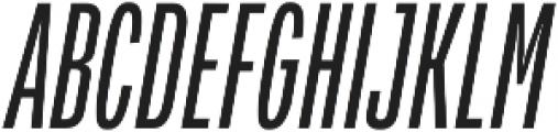Verbatim Lite Condensed Oblique otf (400) Font UPPERCASE